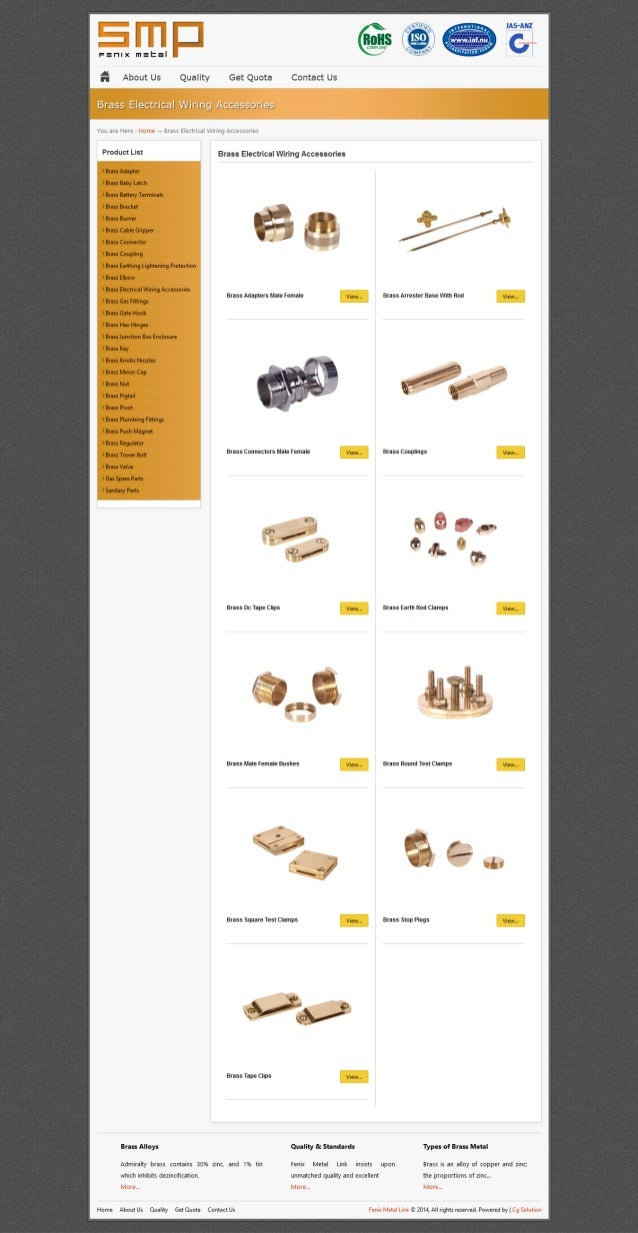 Brass Electrical Wiring Accessories Screw Machine Products