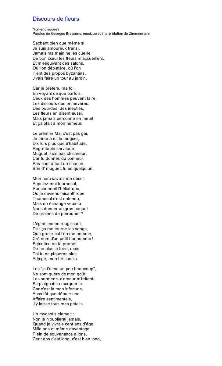 Brassens - Je suis malade chanson ...