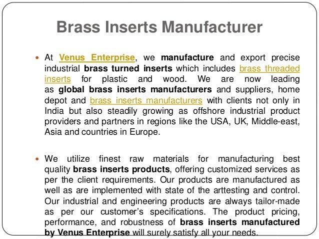 Brass inserts manufacturer, supplier &