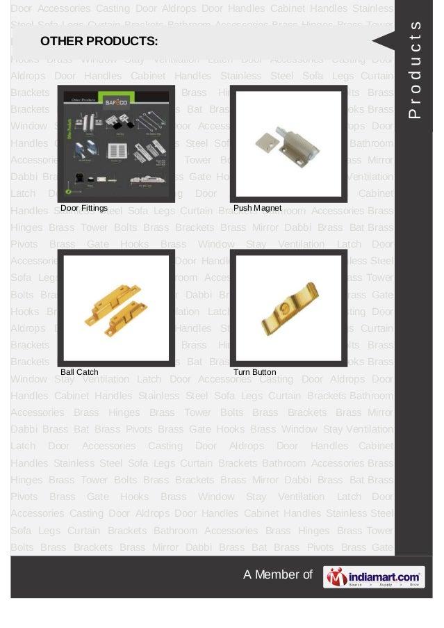 A Member ofDoor Accessories Casting Door Aldrops Door Handles Cabinet Handles StainlessSteel Sofa Legs Curtain Brackets Ba...