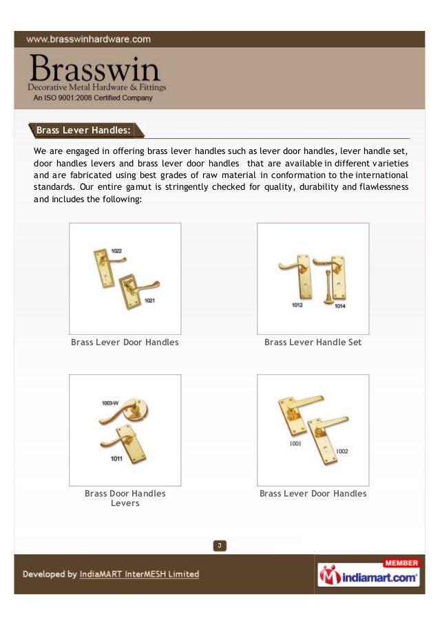 Brass Lever Handles: We are engaged in offering brass lever handles such as lever door handles, lever handle set, door han...
