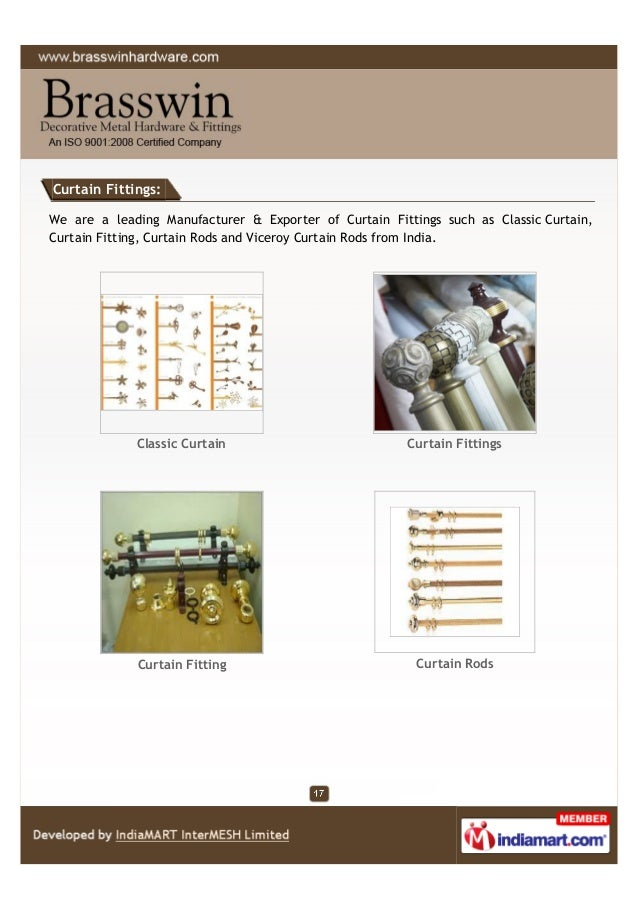 Curtain Fittings: We are a leading Manufacturer & Exporter of Curtain Fittings such as Classic Curtain, Curtain Fitting, C...