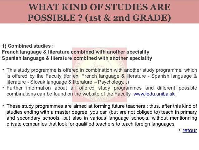 Bratislava comenius university chair of roman languages and literatures Slide 3