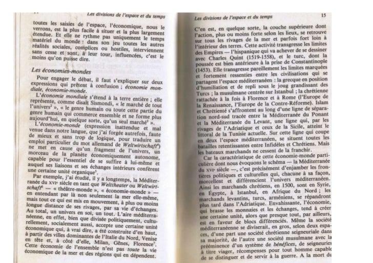 Extraits de F. Braudel