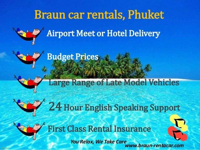 Touring Phuket Island with a Braun car rental (no animation version). Slide 2