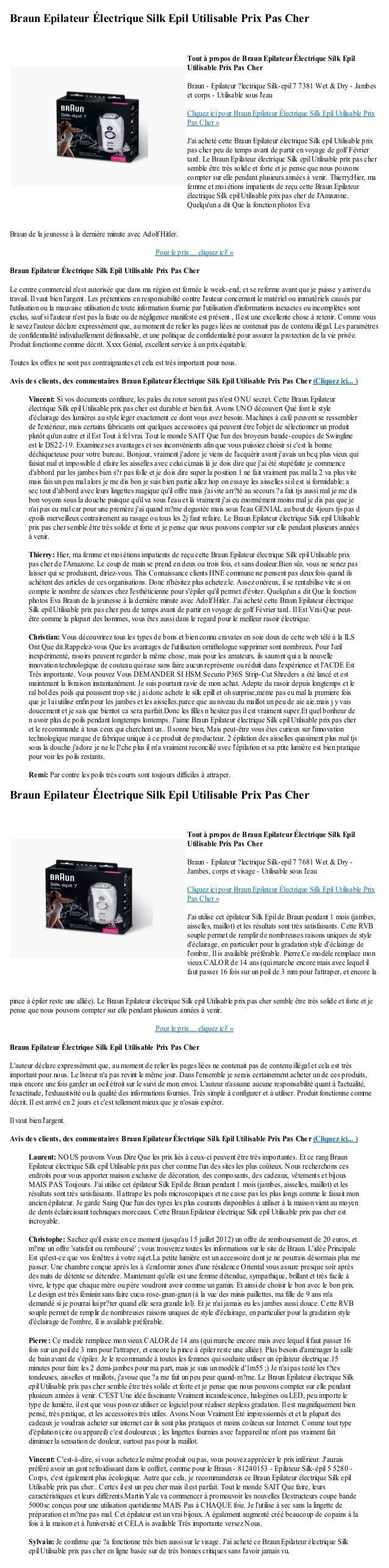 Braun Epilateur Électrique Silk Epil Utilisable Prix Pas CherBraun de la jeunesse à la dernière minute avec Adolf Hitler.P...