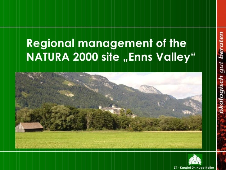 """Regional management of the NATURA 2000 site """"Enns Valley"""""""