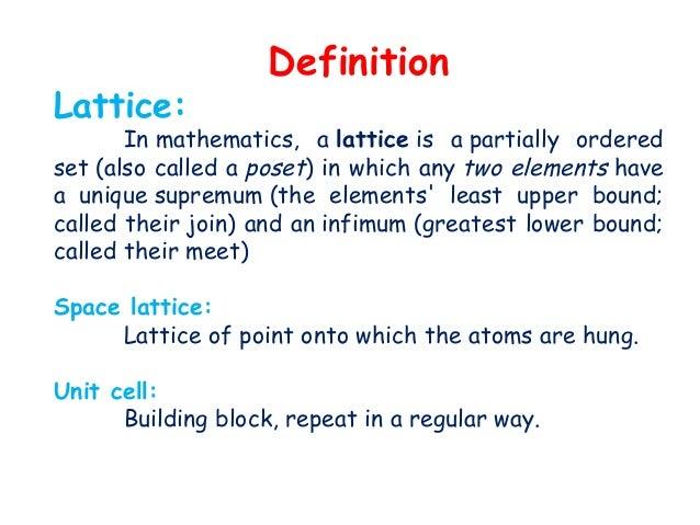 Bravais lattices