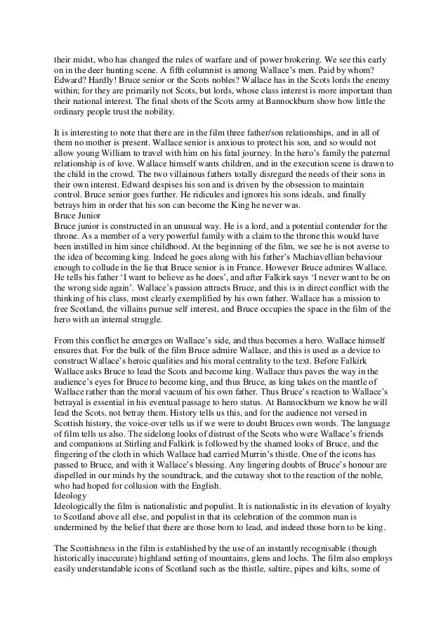 braveheart leadership essay An essay or paper on leadership approaches in a movie  braveheart, wallstreet, one flew  there are various approaches in studying leadership.