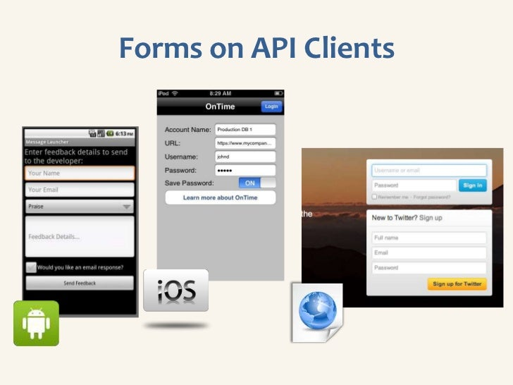 Forms on API Clients