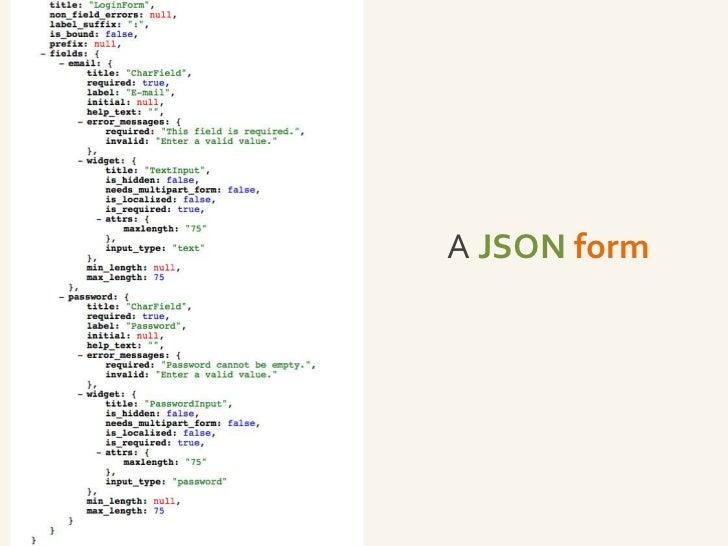A JSON form