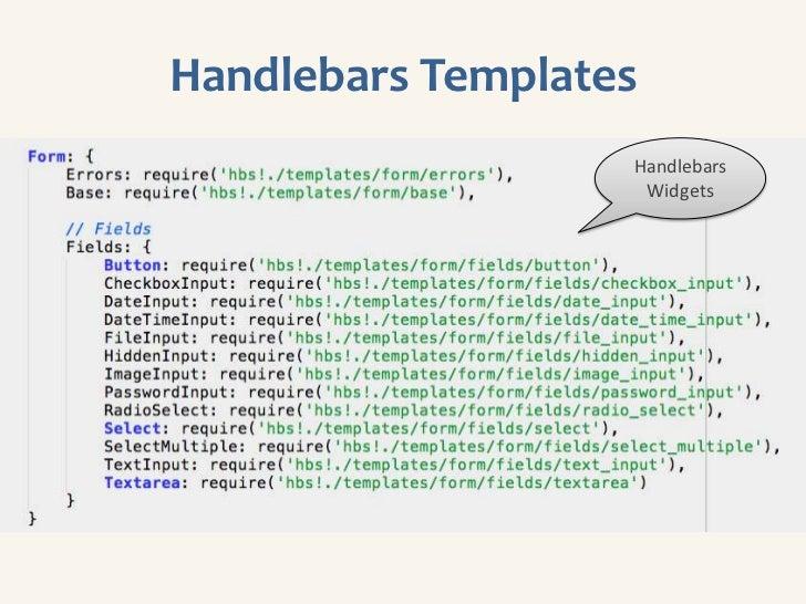 Sample Backbone View                                  Instantiate                                 form model              ...