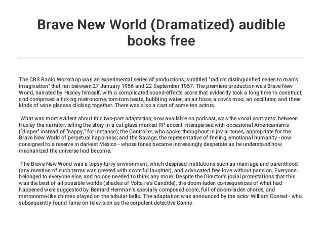 Brave New World (Dramatized) audible books free
