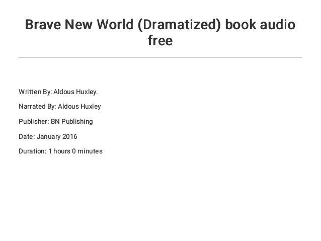 when was brave new world written