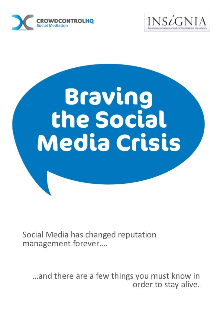 Social Media has changed reputationmanagement forever….  …and there are a few things you must know in                     ...