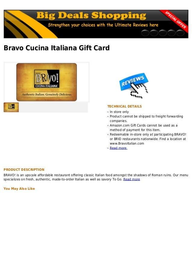 Bravo cucina italiana gift card