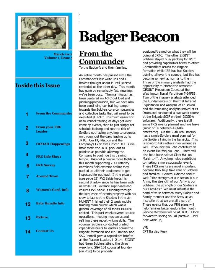 .                                .                                .                                Badger Beacon          ...