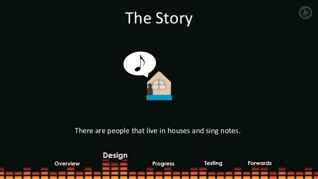 The StoryThere are people that live in houses and sing notes.