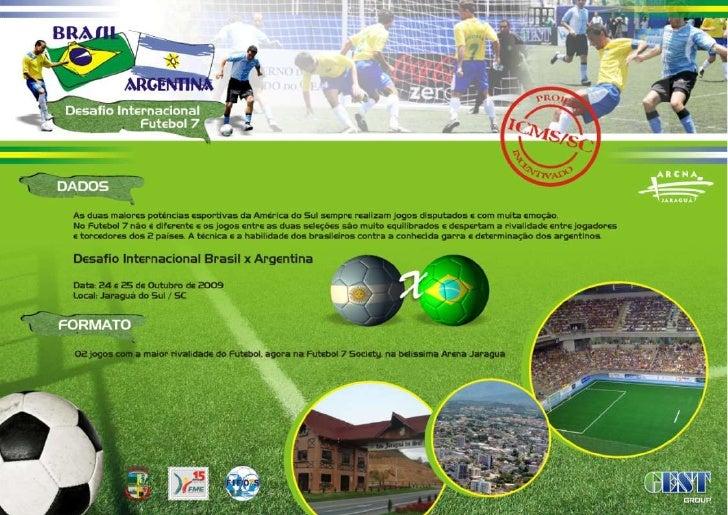 Desafio Brasil x Argentina - Futebol 7 Slide 2