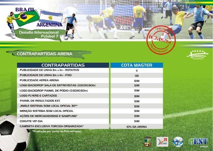 Desafio Brasil x Argentina - Futebol 7 Slide 3