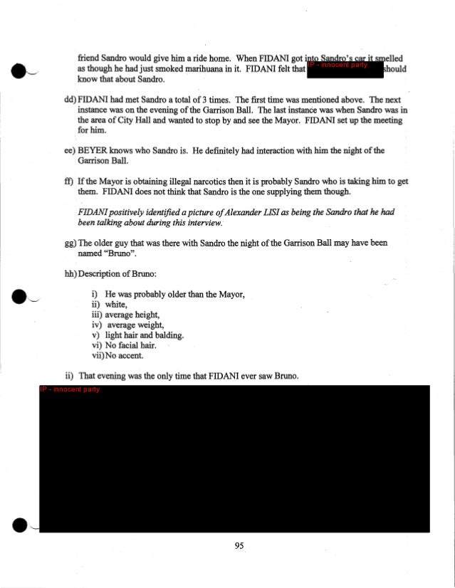 IP - innocent party  June 26th, 2013 Mobile surveillance of Alexander LISI 57) The Toronto Police Mobile Support Unit head...
