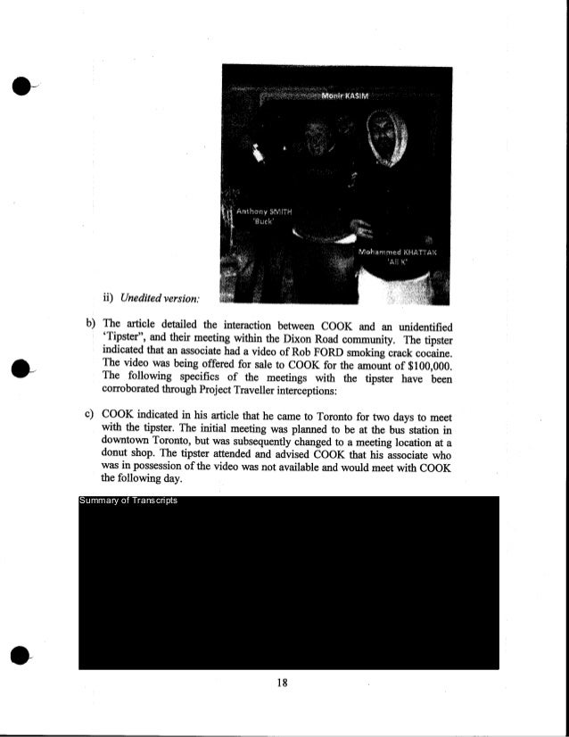 """ii) Unedited version: b) The article detailed the interaction between COOK and an unidentified 'Tipster"""", and their meetin..."""