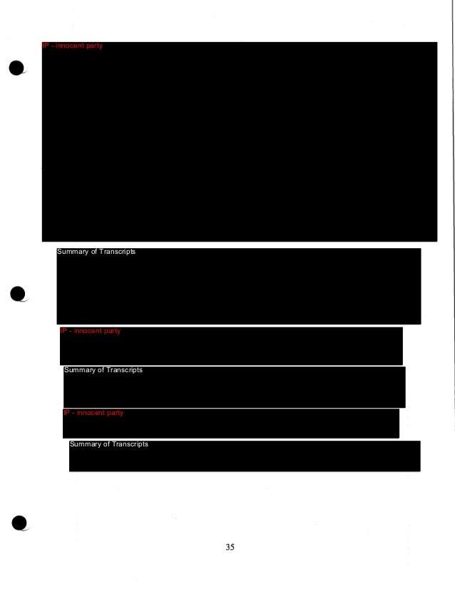 IP - innocent party  Summary of Transcripts  IP - innocent party  Summary of Transcripts  IP - innocent party  Summary of ...