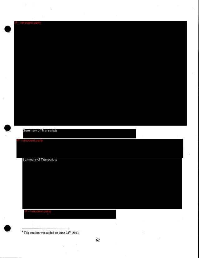 IP - innocent party  Summary of Transcripts  IP - innocent party  IP - innocent party  Summary of Transcripts  Innocent Pa...