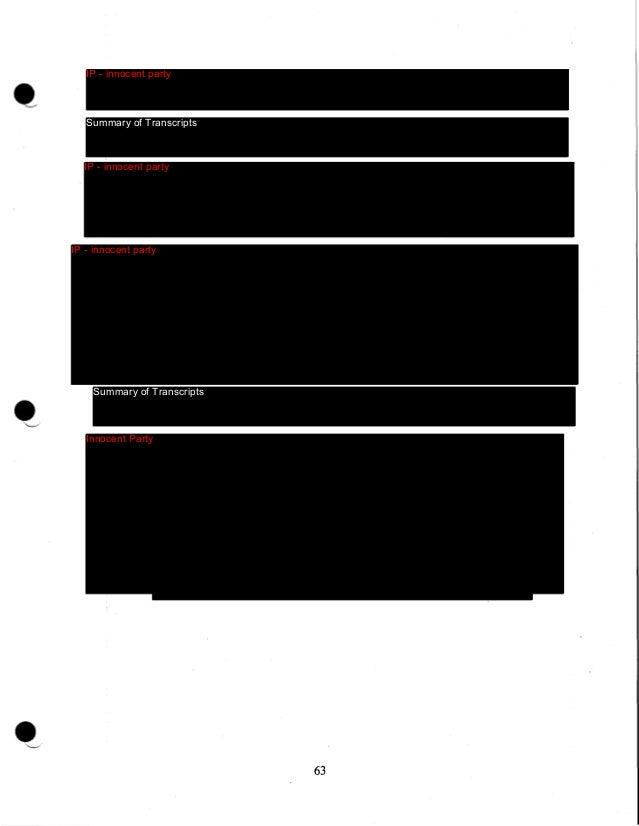 •  Summary of Transcripts  64