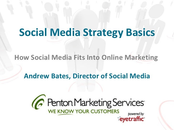 Social Media Strategy Basics How Social Media Fits Into Online Marketing  Andrew Bates, Director of Social Media