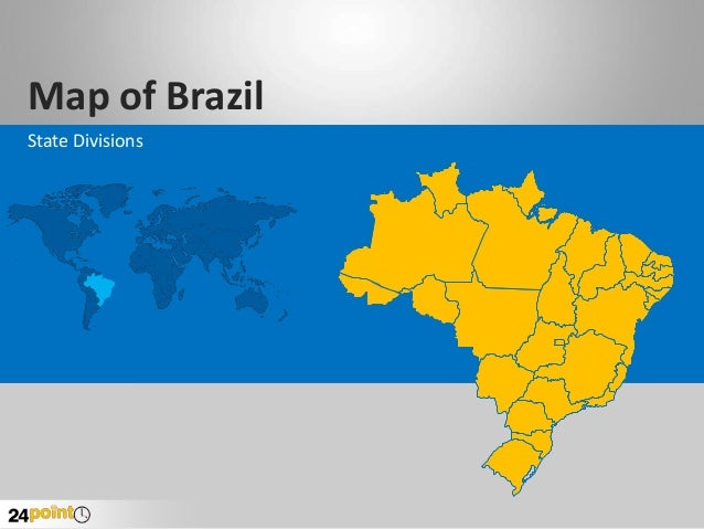 Brazil: Editable PowerPoint Map