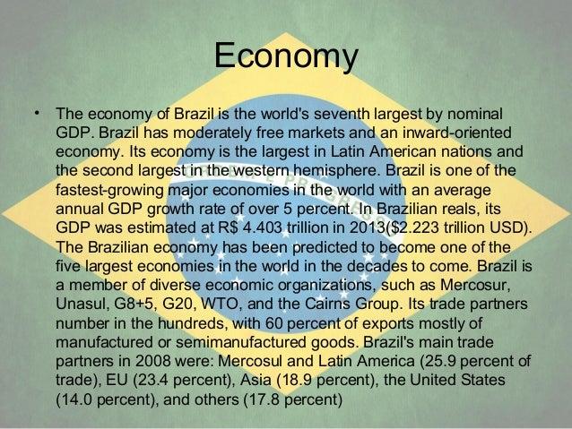 a description of brazil as one of the fastest growing nations in the western hemisphere Brazil until 2010 had one of the worlds fastest growing  brazil is a member of the united nations, the  of the land in earths western hemisphere,.