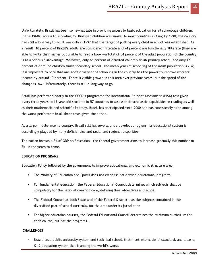 brazil country analysis Brazil – country analysis report 1country analysis report brazil akanksha tikku.