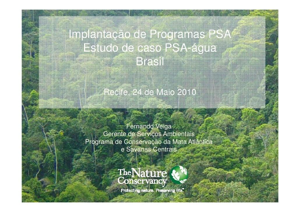 Implantação de Programas PSA  Estudo de caso PSA-água            Brasil       Recife, 24 de Maio 2010               Fernan...