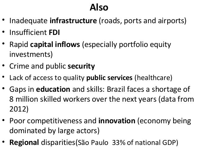fdi environment of brazil How beneficial is foreign direct investment for developing suggest that countries should concentrate on improving the environment for investment and the.