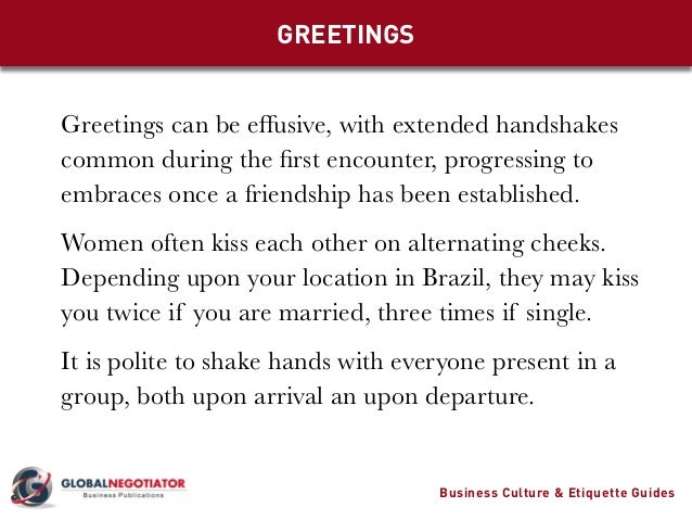 Brazil business culture and etiquette guide greetings greetings m4hsunfo