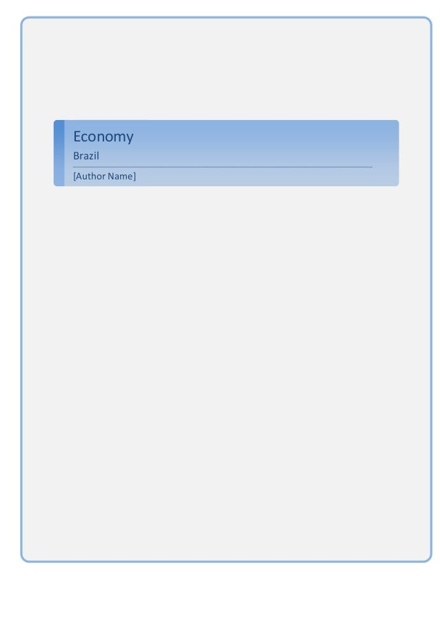 EconomyBrazil[Author Name]