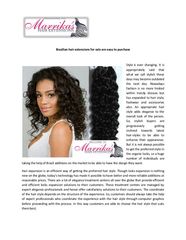 Brazilian Hair Extensions For Sale Are Easy To Purchase