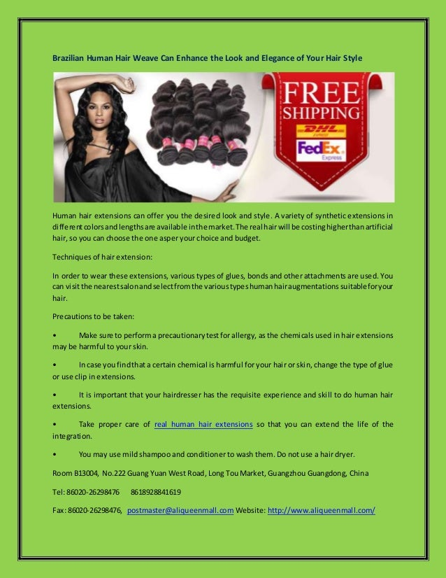 Brazilian Human Hair Weave Can Enhance The Look And Elegance Of Your
