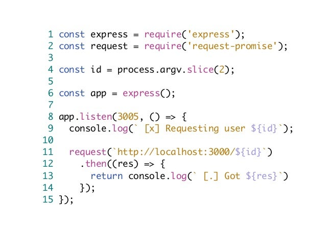 Microservices using Node js and RabbitMQ