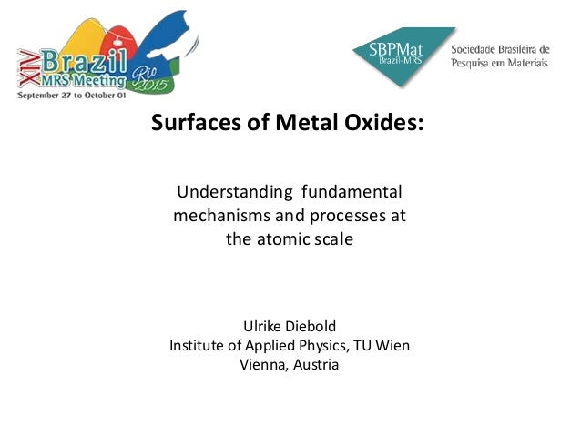 Surfaces of Metal Oxides. Slide 3