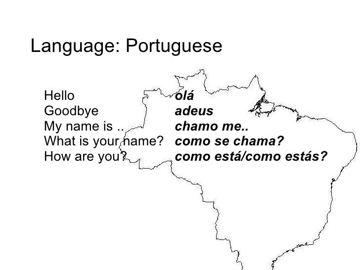 how to say hello in portuguese brazil