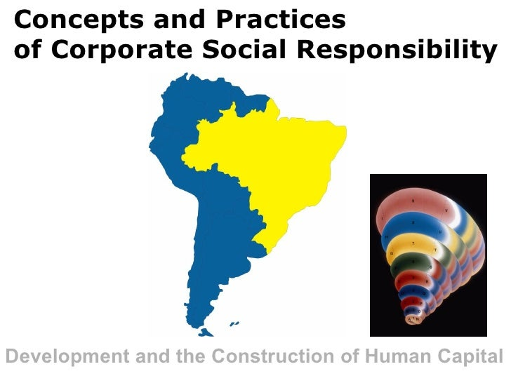 Concepts and Practices  of Corporate Social Responsibility   Development and the Construction of Human Capital