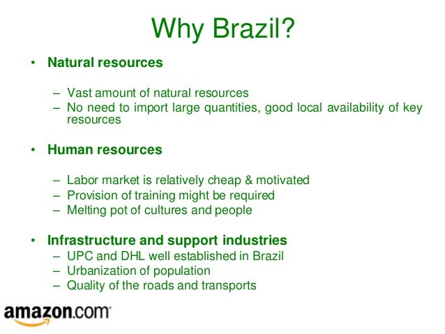 Emerging Market Entry A Strategic Analysis Of Brazil Amazon - Natural resources of brazil