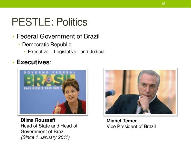 pestel analysis brazil Political factors affecting a business range from bureaucracy, trade control and corruption level to government stability, regulation and deregulation.