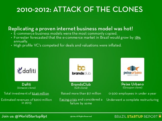 2010-2012: ATTACK OF THE CLONES Replicating a proven internet business model was hot! • E-commerce business models were th...