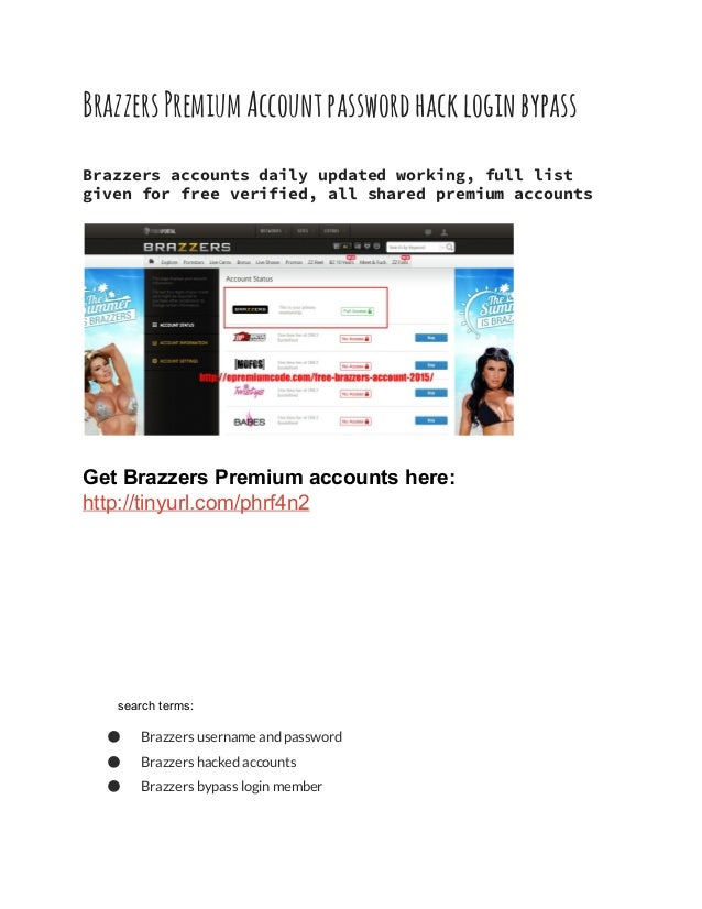 Free Login For Brazzers