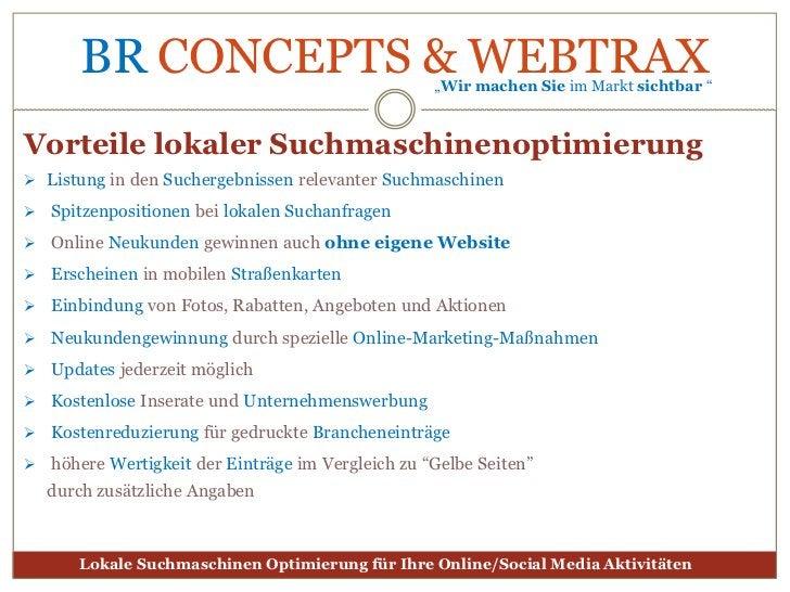 Lokale Suchmaschinenoptimierung<br />für Ihre Online-Aktivitäten<br />
