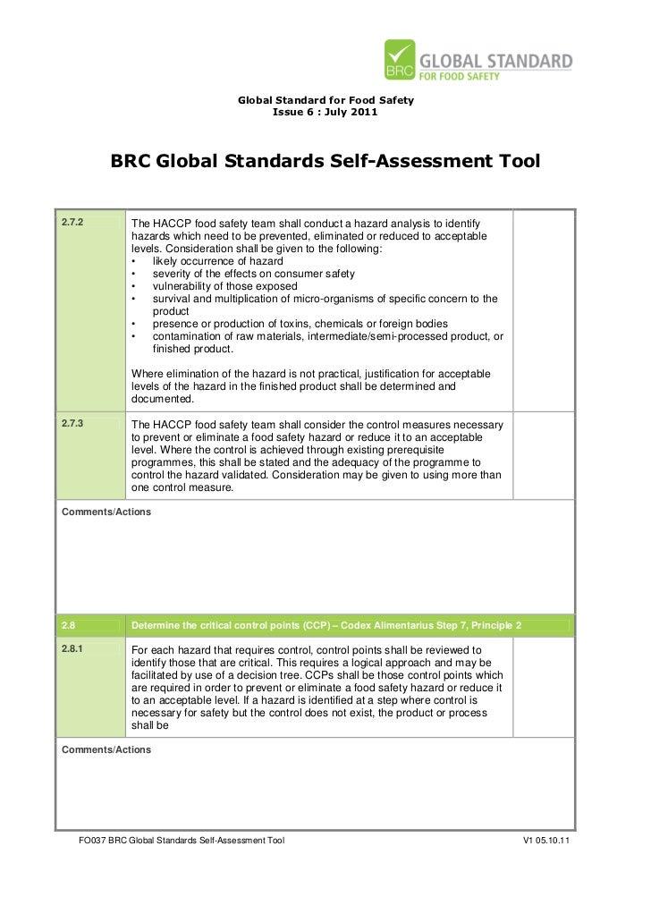 brc self assessment tool fo037 rh slideshare net BRC Audit Consulting BRC Audit Part 1