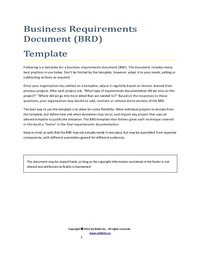 Brd template uml nobleinc business requirements document brd template following is a template for a business requirements document accmission Gallery